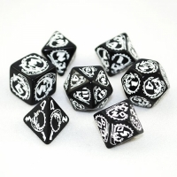 QWS: Dragons Black & white Dice Set