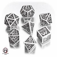QWS: Dwarven White & black Dice Set