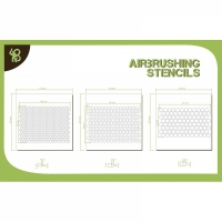 BA: Airbrush Stencils Hexagon Pattern 1