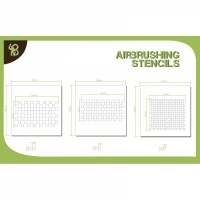 BA: Airbrush Stencils Chess Pattern 2