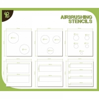 BA: Airbrush Stencils Circles and Strips 1