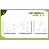 BA: Airbrush Stencils Symbols: Symbols: Templars, Omega, Angel