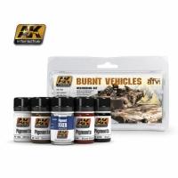AK: Burnt Vehicles Set