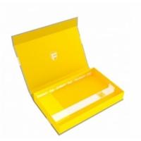 FH: Magnetbox half-size 40 mm gelb leer