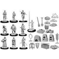 Vorbestellung - RPG: WizKids Deep Cuts Unpainted Miniatures: Castle - Kingdom Retainers