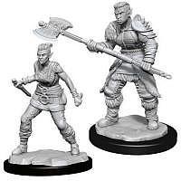 Vorbestellung - D&D/RPG: Nolzurs Marvelous Unpainted Miniatures: W13 Orc Barbarian Female