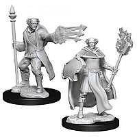 Vorbestellung - D&D/RPG: Nolzurs Marvelous Unpainted Miniatures: W13 Multiclass Cleric & Wizard Male