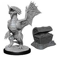 Vorbestellung - D&D/RPG: Nolzurs Marvelous Unpainted Miniatures: W13 Bronze Dragon Wyrmling & Pile of Sea found Treasure