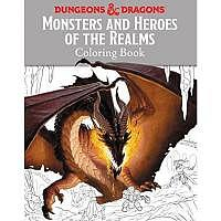 D&D/RPG: Monsters and Heroes of the Realms A Dungeons & Dragons Coloring Book