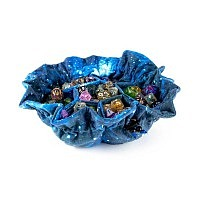 Vorbestellung - MDG: Velvet Compartment Dice Bag with Pockets: Galaxy