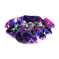 Vorbestellung - MDG: Velvet Compartment Dice Bag with Pockets: Nebula